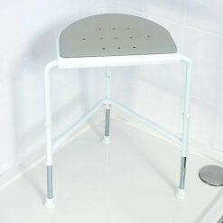 Sgabello angolare da doccia Nuvo™ con sedile imbottito|Sgabello angolare da doccia Nuvo™ con sedile imbottito|Sgabello angolare imbottito NUVO™-76925