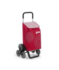 Gimi Tris Floral carrello spesa - Carrello Portaspesa saliscale rosso 1200x1200