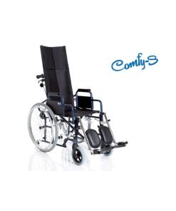 Moretti  carrozzina pieghevole ad autospinta con schienale prolungato – serie comfy-s