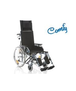 Moretti  carrozzina pieghevole ad autospinta – con schienale prolungato struttura in alluminio – serie comfy