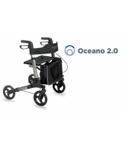 Moretti  rollator pieghevole in alluminio verniciato – 4 ruote – oceano 2.0