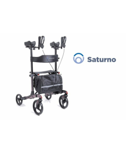 Moretti  rollator pieghevole in alluminio verniciato – 4 ruote – modello antibrachiale – saturno