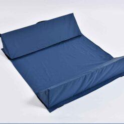 smsiL63423 cuscini paracolpi triangolari per letto - coppia