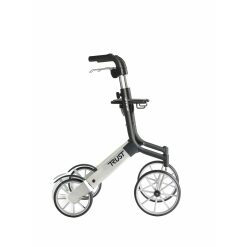 Let's go out rollator - argento nero